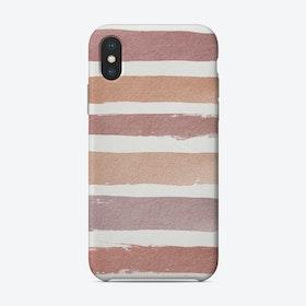 Dusty Rose Stripes Phone Case