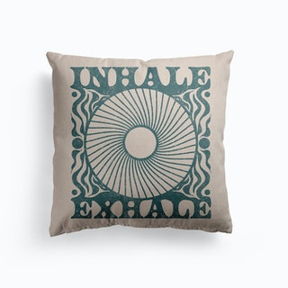 Inhale Exhale Canvas Cushion
