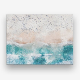 Aerial Beach Canvas Print
