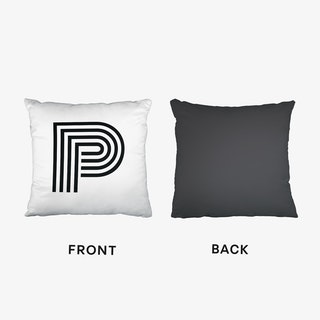 Black Letter P Cushion