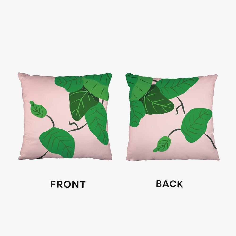 Leaves Plant Illustration Cushion
