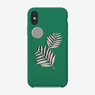 Palm Leaves In Moon Light Phone Case