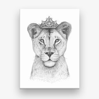 The Lioness Queen Canvas Print