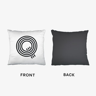 Black Letter Q Cushion