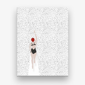 Swimming Points Canvas Print