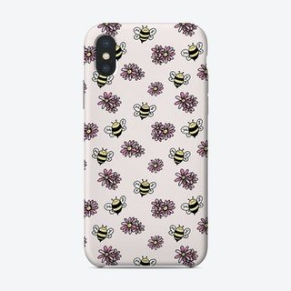 Happy Bees And Flowers Phone Case