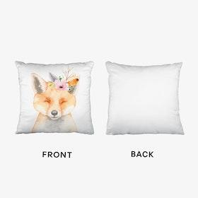 Floral Fox Cushion
