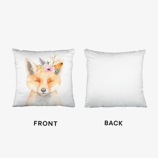 Floral Fox Cushion