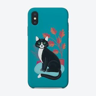Black And White Tuxedo Cat Phone Case
