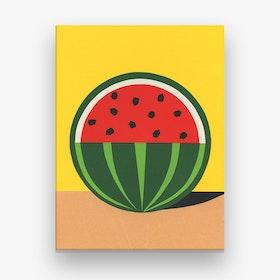Three Quarter Watermelon Canvas Print