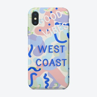West Coast Vibes Pop Art Phone Case