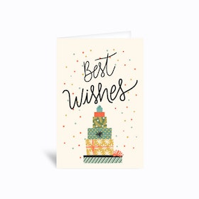 Best Wishes Christmas Holidays Greetings Card