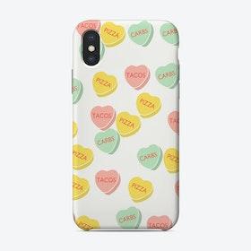 Conversation Hearts   Phone Case