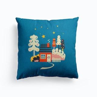 Winter Hut Cushion