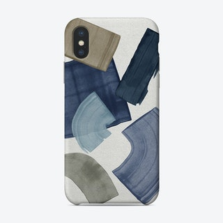 Blue And Brown Paint Blocks Phone Case