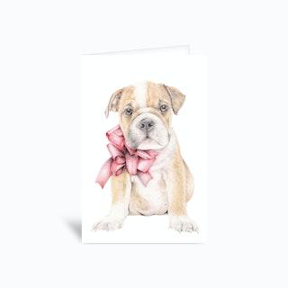 Bulldog 4x6 Greetings Card