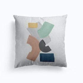 Pastel Paint Blocks Cushion