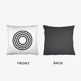 Black Letter O Cushion