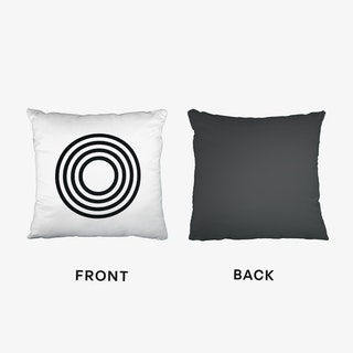 Black Letter O Cushion