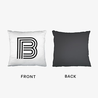 Black Letter B Cushion