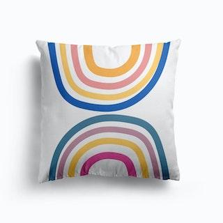 Double Upside Down Rainbow Cushion