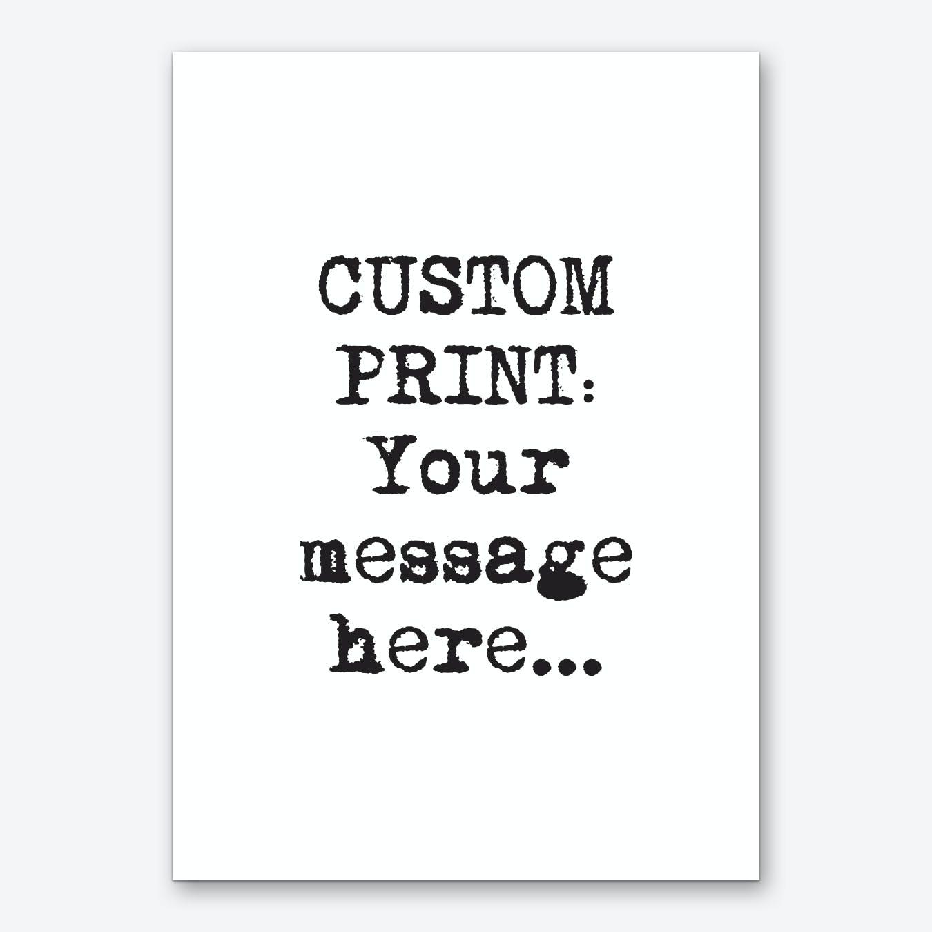 Typewriter Font Personalised Art Print