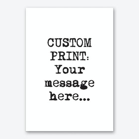 Typewriter Font Personalised Art Print