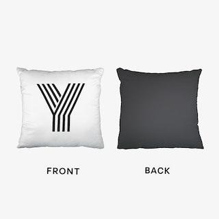 Black Letter Y Cushion