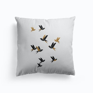 Origami Birds Collage I Cushion