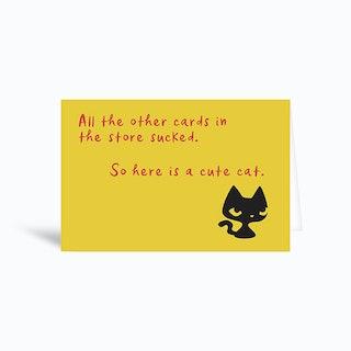 Cute Cat Greetings Card