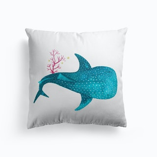 Whale Shark With Corals  2 Cushion