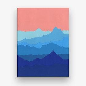 Blue Mountains Canvas Print