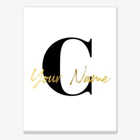 Your Name in Gold Personalised Canvas Print