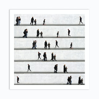 Wall People Detail 14 Art Print