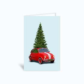 Christmas Car Greetings Card