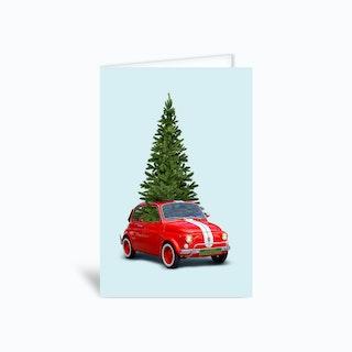 Christmas Car Greetings Card