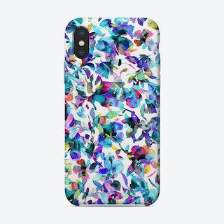 Aquatic Flowers Blue Phone Case