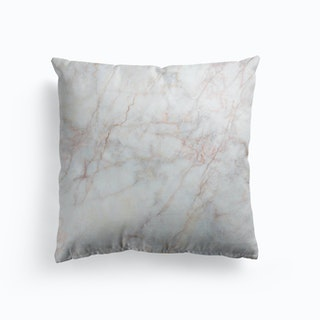 White And Pink Marble Cushion