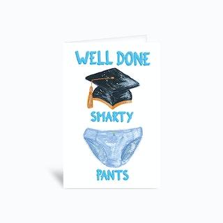 Smarty Pants Sambulll Greetings Card