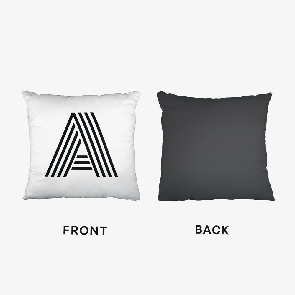 Black Letter A Cushion