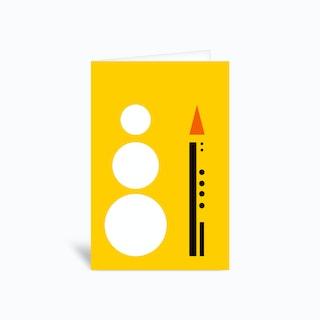 Snowman Geometry Greetings Card