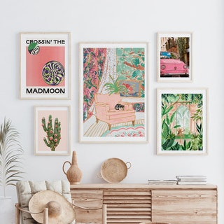 Green and Pinks