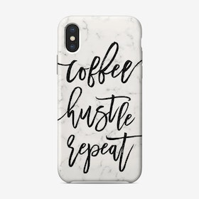 Coffee Hustle Repeat iPhone Case