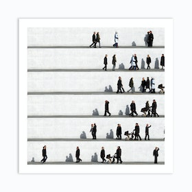 Wall People Detail 7 Art Print