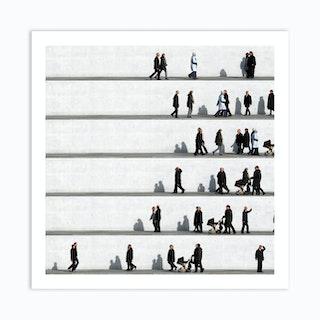 Wall People Detail 7 Art Print