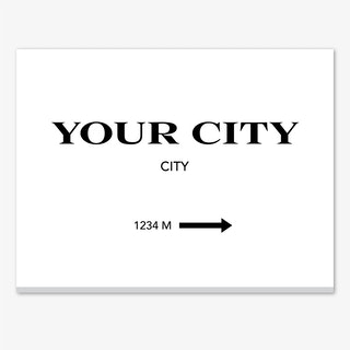 Your City Personalised Canvas Print