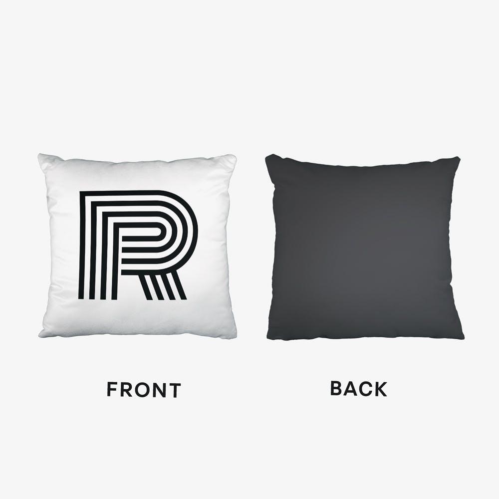 Black Letter R Cushion