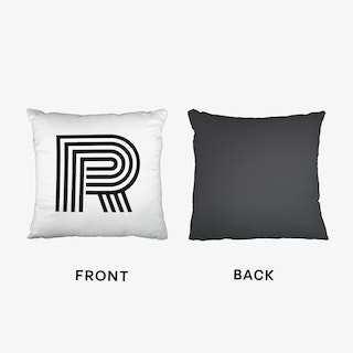 Black Letter R Cushion