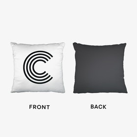 Black Letter C Cushion