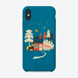 Winter Hut Phone Case